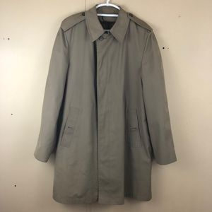 Vintage London Fog Rain Coat in British Khaki